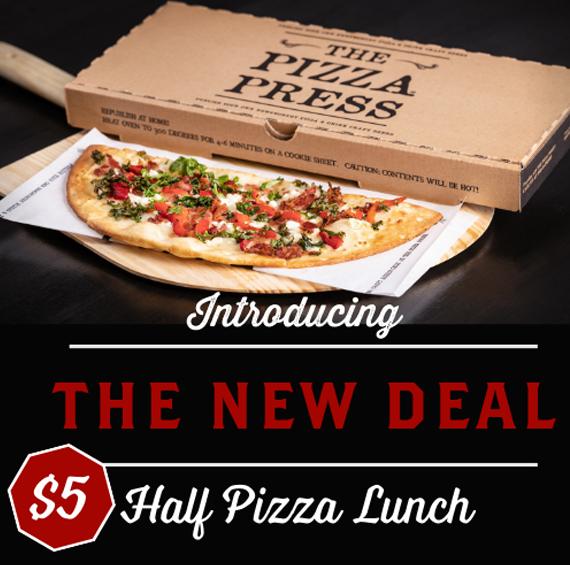 Enjoy $5 Half Pizza Lunch at The Pizza Press in Brea