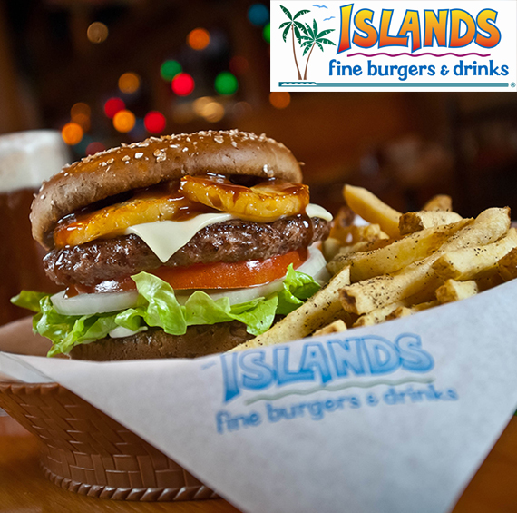 Enjoy 20% Off Your Meal* at Islands Restaurant