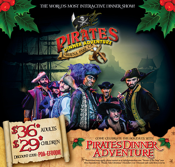 E-Foodie Members: Save Big at Pirates Dinner Adventure this Holiday Season